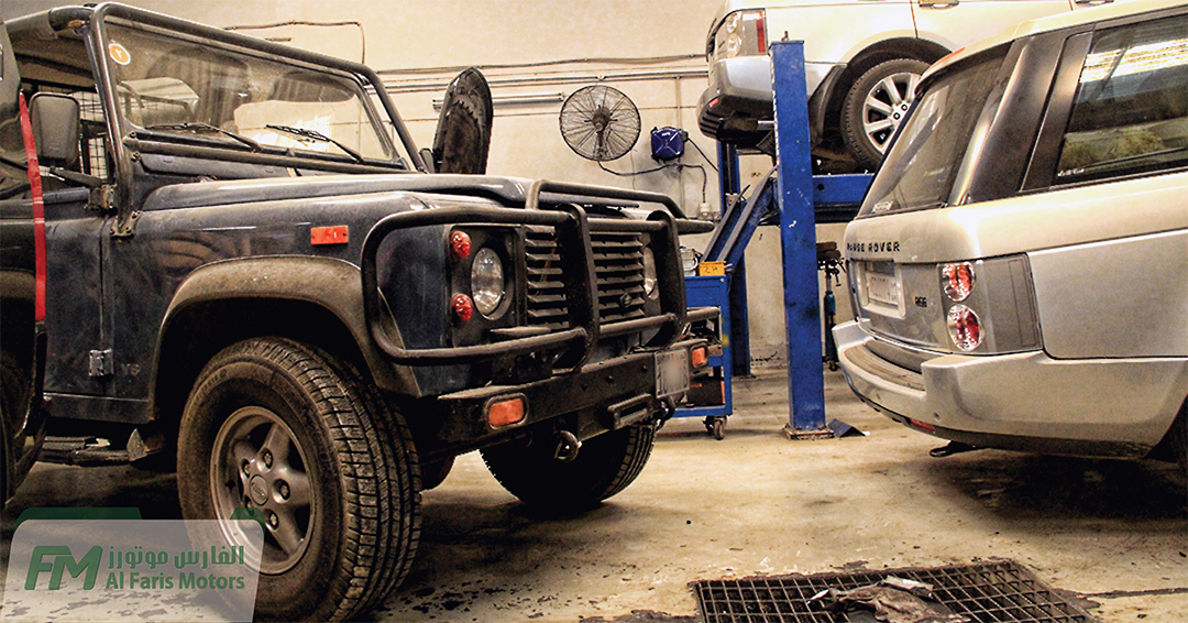 All Land Rover Vehicles Maintenance is on going