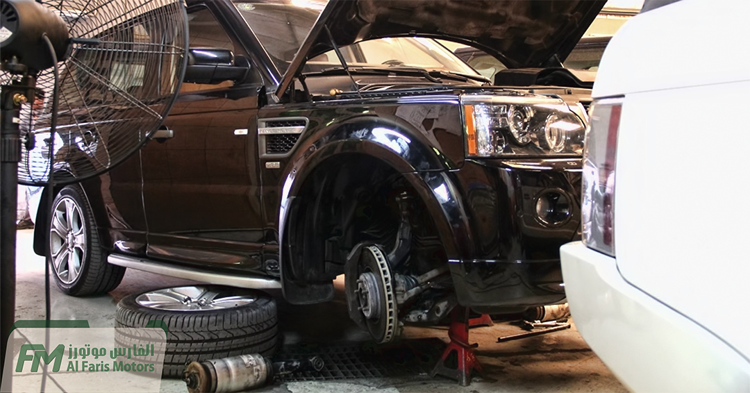 2010 Range Rover Sport 5.0L SC Front Air Springs being replaced.