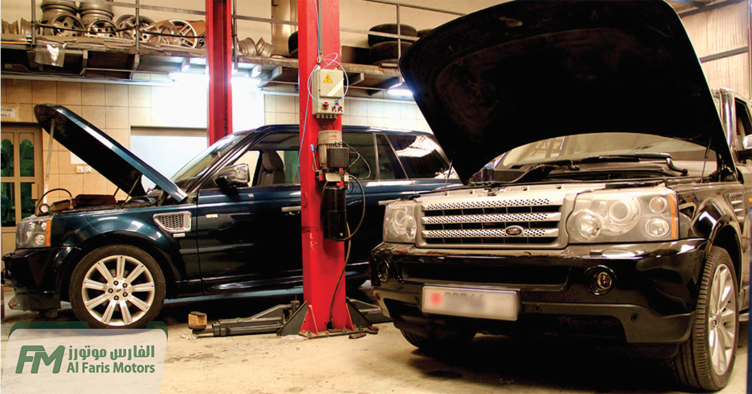 Range Rover Sport getting ready for Service