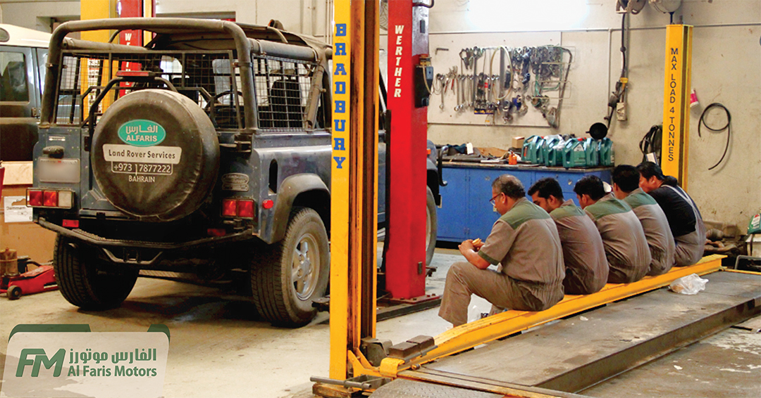 Al Faris Motors Team getting ready to attack Land Rovers in our Custody